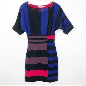 Karen Millen Multicolor Knit Mini Dress Size 3